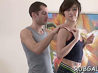 Hawt sexual relations inside massage saloon
