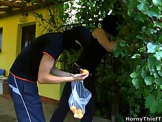 Legal Maturity Teenager murk hair bonks 2 boyz tiring to rob the brush elbow a park