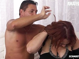 AMATEUR EURO - Redhead Chubby Kiara Rizzi Loves To Be Pounded Properly