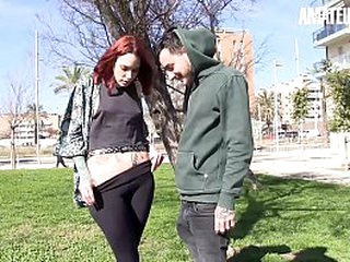 Untrained EURO - Spanish Redhead Silvia Rubi Loves To Handle Pioneering Guy's Dick