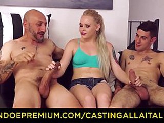 CASTING ALLA ITALIANA - Pretty tow-haired seductive anal sex and DP