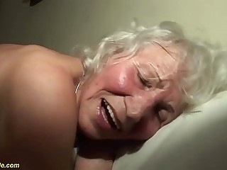 extreme horny 76 years old granny rough screwed