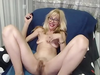 Hairy Granny with chunky Pussy more than Cam