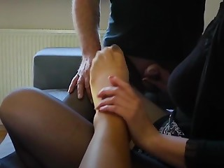 Nylon family at footfetish pastime