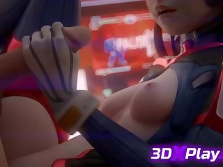 SLOPPY HANDJOB BY 3D DVA