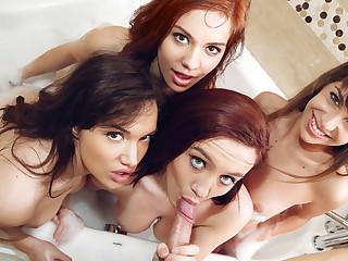 Paris Lincoln & Kimmy Granger & Liz Leigh adjacent to Disparaging Sluts In The Tub - GFRevenge