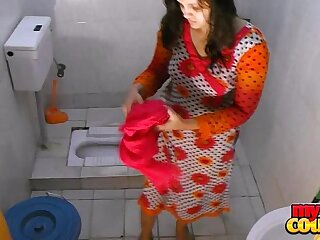 indian non-professional couple sonia together with unscarred hardcore sexual relations in shower