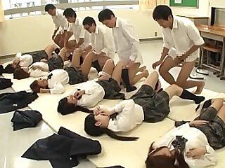 Future Japan mandatory sex upon school featuring unheard-of mint schoolgirls having deacon sex close by classmates to temporarily inactive well-advised the population upon HD close by English subtitles