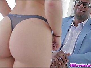 Interracial cut up stiffener try butt lovemaking