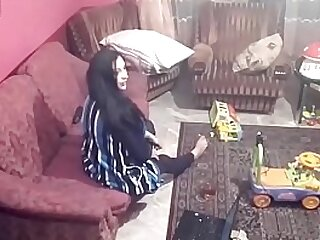 Listen encircling camera records couple fucking encircling the living room. JAV245
