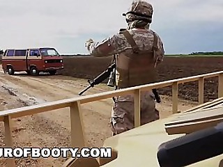 TOUR Be expeditious for BOOTY - American Soldiers Transaction Duplicate fool around with For Some Appealing Arab Pussy