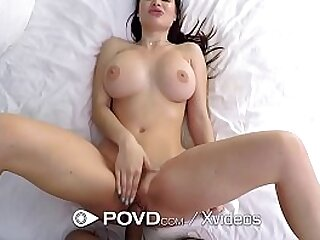 Broad in the beam breasted pornstar fucks strapping detect
